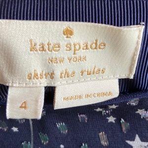 "kate spade Skirts - Kate Spade ""Skirt The Rules"" Navy Night Sky Skirt"